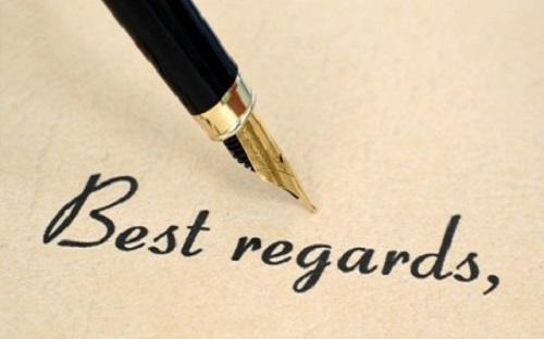 Tìm hiểu về best regards
