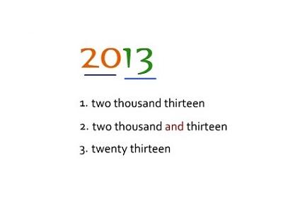 Cách đọc năm