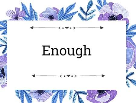 Cách sử dụng Enough