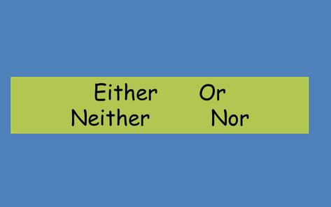 Cấu trúc cách dùng Neither nor Either or
