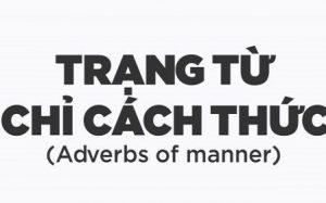 Trạng từ chỉ cách thức. Vị trí và cách dùng trong Tiếng Anh